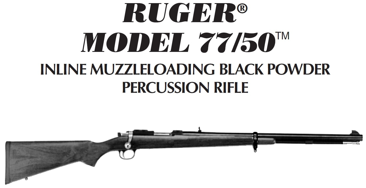 Ruger 77/50 muzzle loader 209 conversion, sealed breech