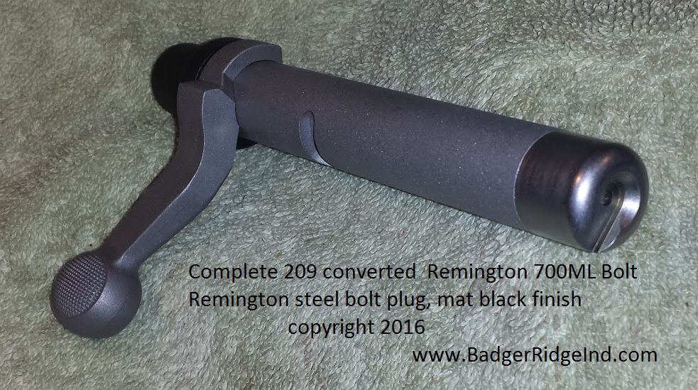 Remington 700 ml 209 converted bolt
