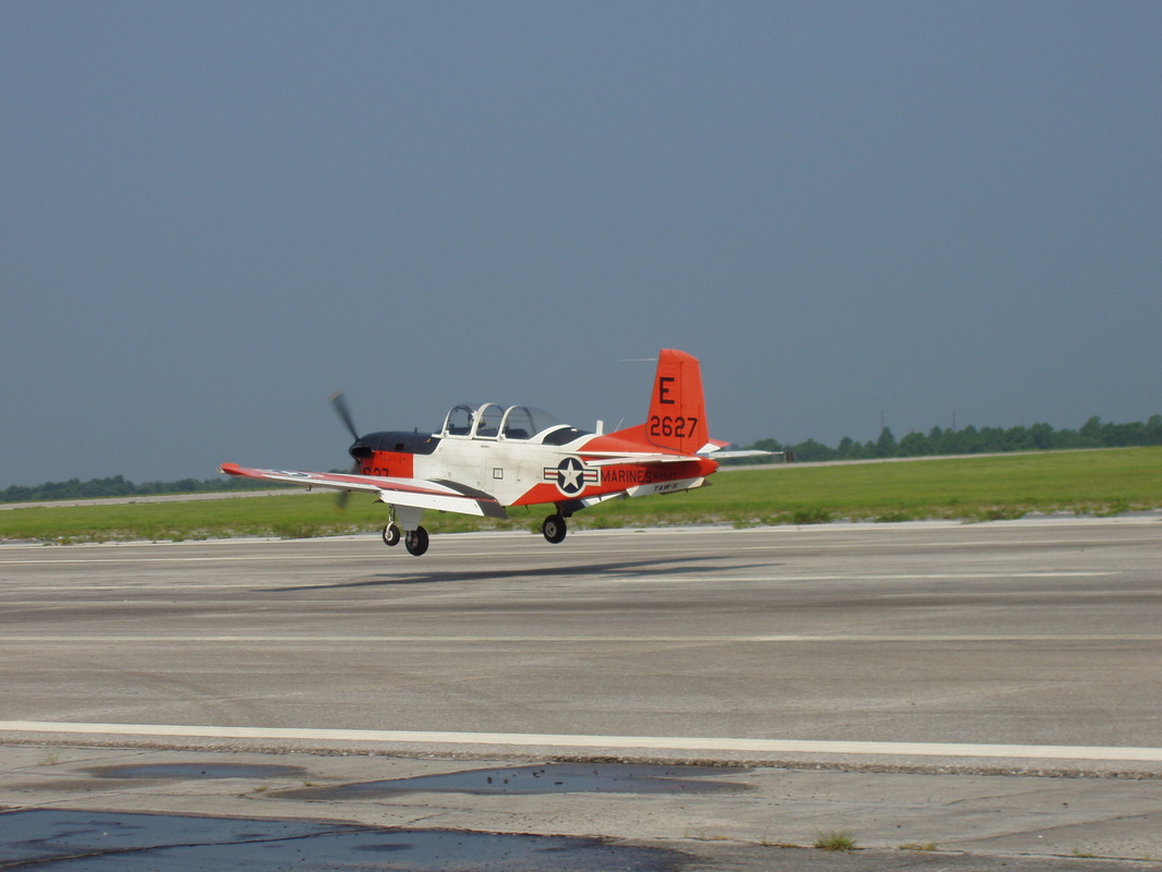 Student Solo Landing T-34 Turbo Mentor at Saufley Field, Pensacola, circa 2003