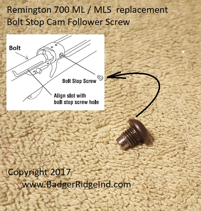 Badger Ridge's Remington 700 ML Bolt stop cam follower screw