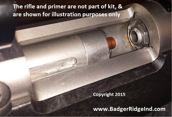 Feeding a 209 primer into the Badger Ridge Hunter breech plug