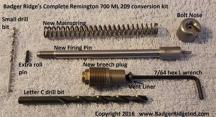 The best Remington 700 ML 209 conversion kit