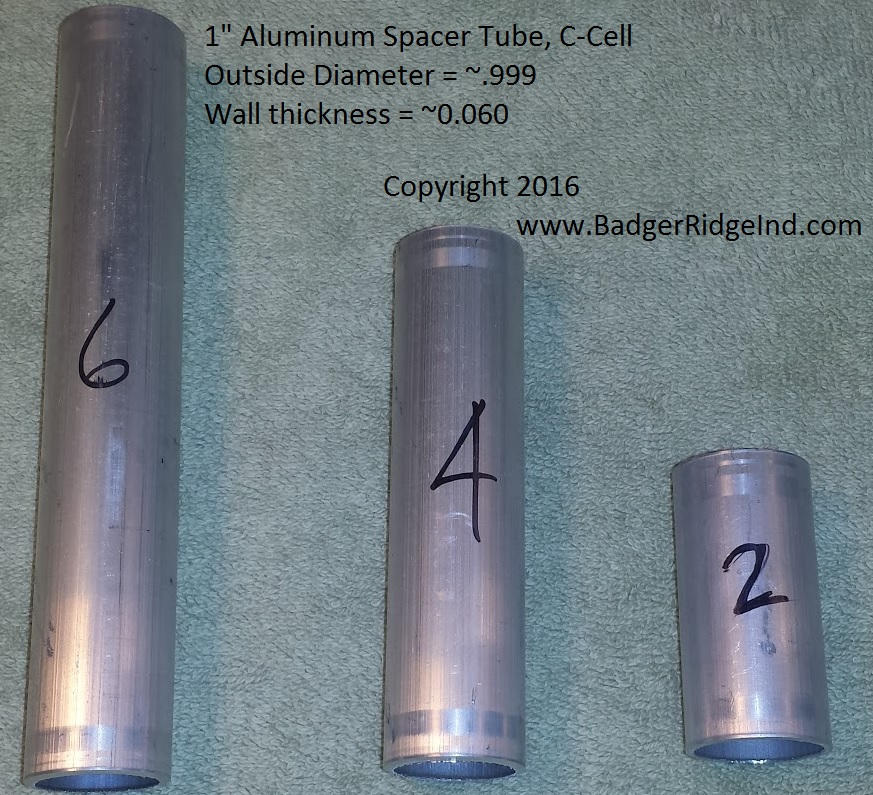Aluminum Spacer Tube - C Cell (add on item)