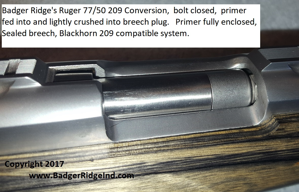 Ruger 77/50 209 conversion kit, sealed breech